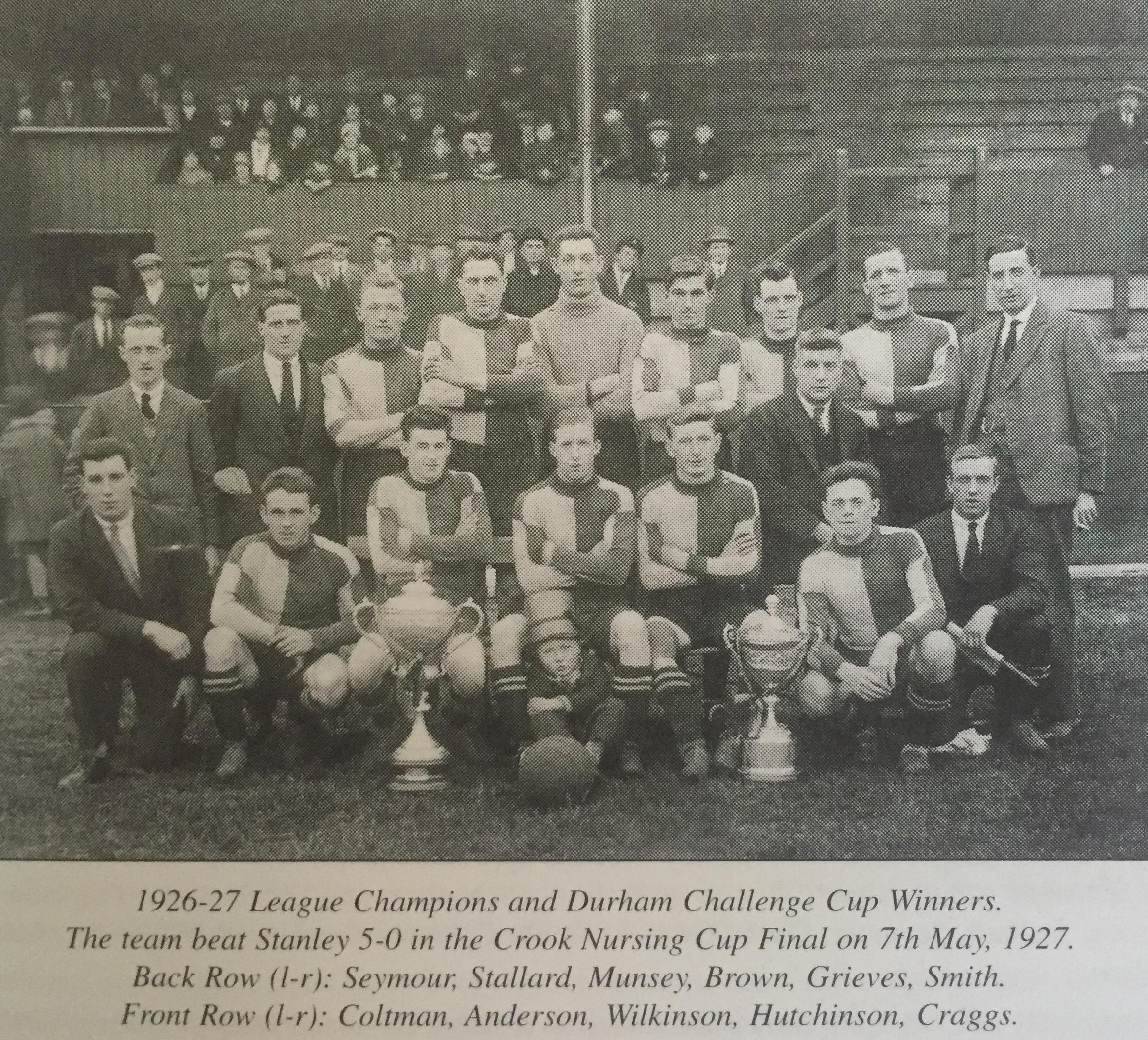 Club History 1925 1945 Crook Town Afc